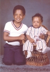 Emmitt (age 6) and Rodney (age 1) Quarles  (1975)